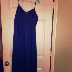 BCBG Size 8 Navy Maxi Dress